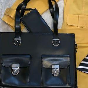 All Business Jack George Lther Black Case w/wallet